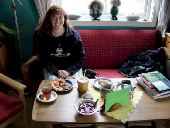 Tea and waffles at Kråkenes Lighthouse