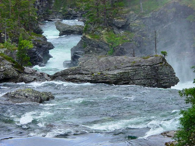 The wild river at Vermafossen